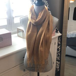 Pashmina and Silk Scarf beige